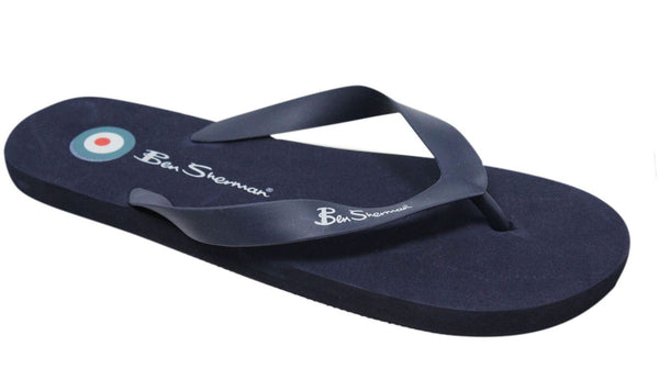 Ben Sherman Mens Falmouth Summer Holiday Flip Flops Navy