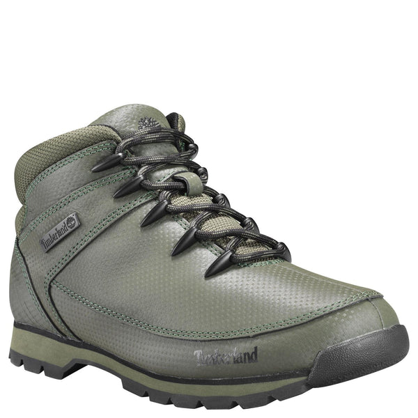 Timberland Mens Euro Sprint Mid Hiker Tectuff  Boots Hiking Shoes Green