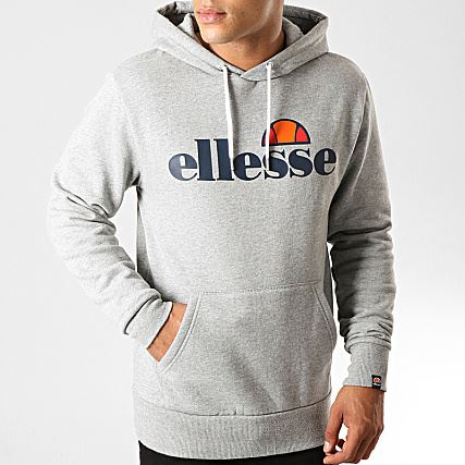 Ellesse Men's Gottero Quality Pullover Gym Hoody Running Sweatshirt Jumper Grey