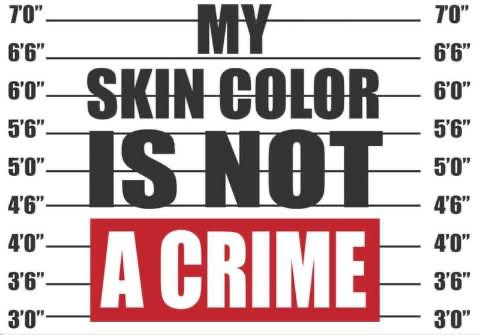 MY SKIN COLOR IS NOT A CRIME T-SHIRT