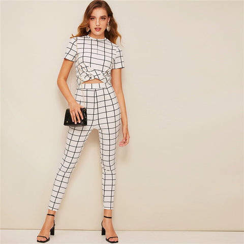 Cross Wrap Pants Set