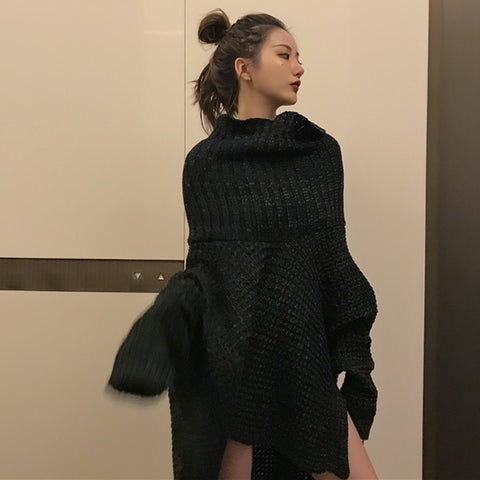 Irregular Knitting Sweater