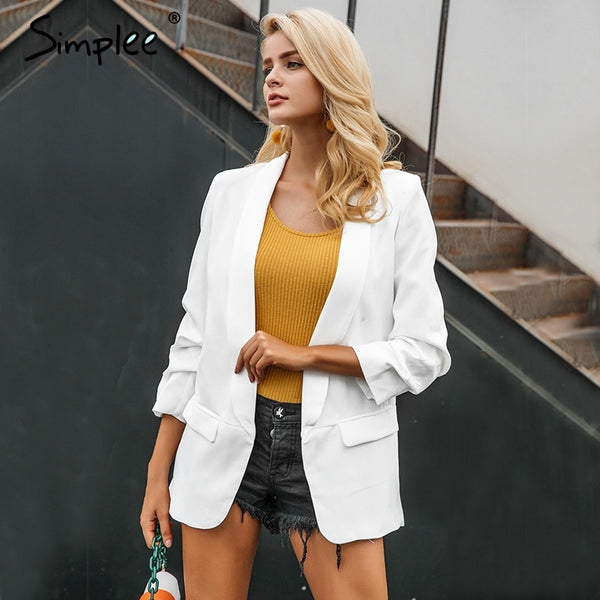 WHITE WORKING BLAZER