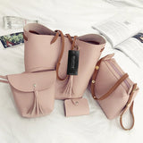 4pc  Leather Bag set