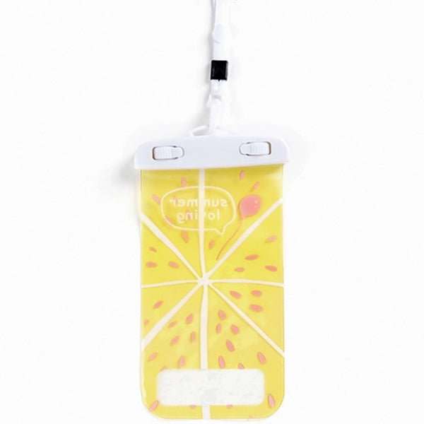 Fruit Banana Waterproof Pouch Bag PVC Cell Phone Case For IPhone Coin Purse Card Holder Storage Wallet