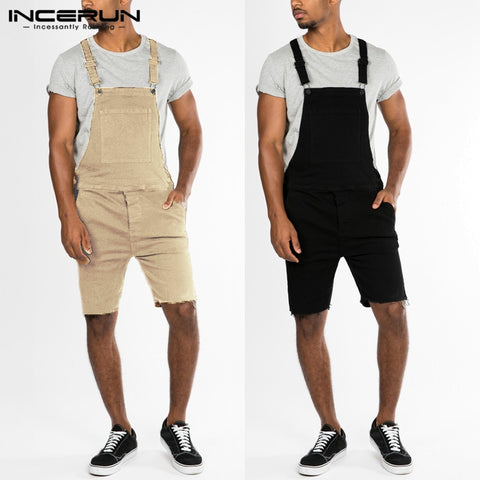 Men's Sets Shorts Jumpsuits Rompers Denim Overalls