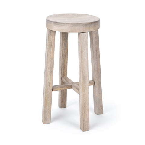 Driftwood White Washed Bar Stool
