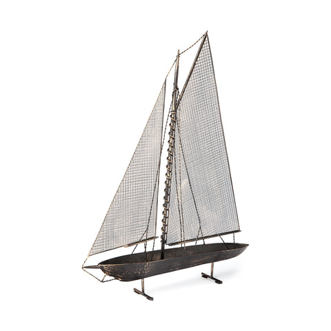 Industrial Metal Sailboat Model