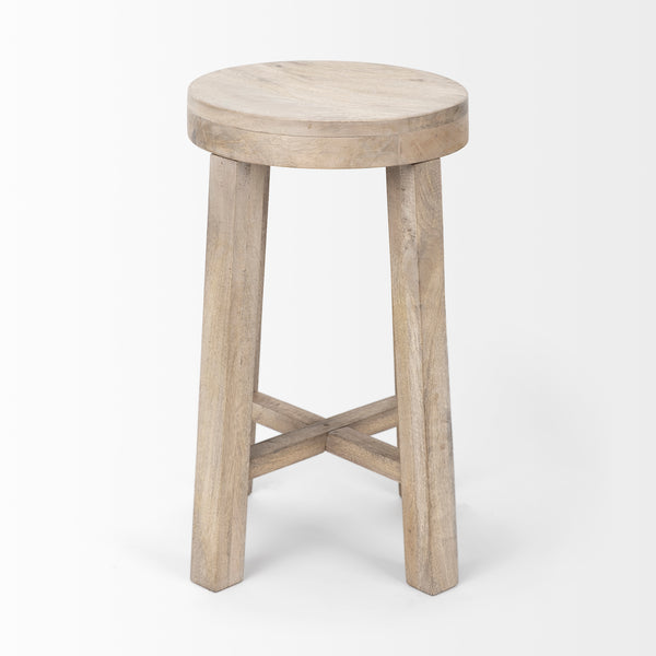 Driftwood White Washed Counter Stool