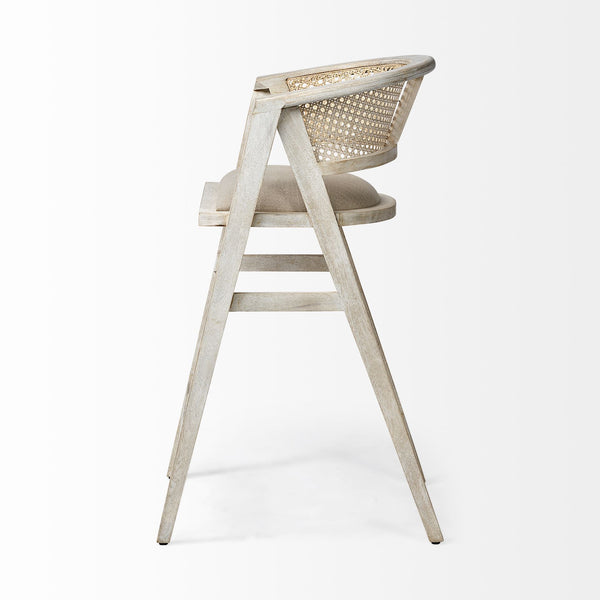 Driftwood and Cane Bar Stool