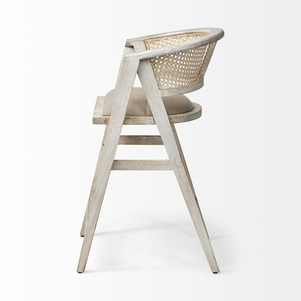 Driftwood and Cane Counter Stool