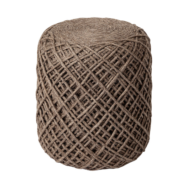 The Skein Wool Pouf, Camel