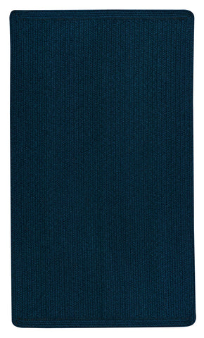 Navy Heathered Area Rug, Reversible.
