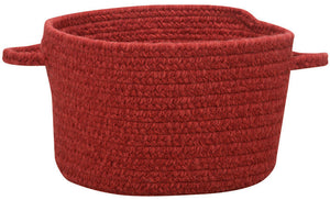 Braided Wool Basket, Scarlet Red