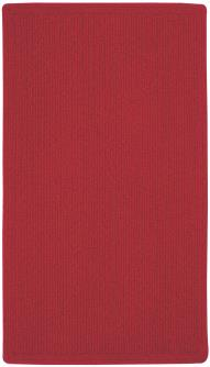 Heathered Scarlet Red Braided Area Rug