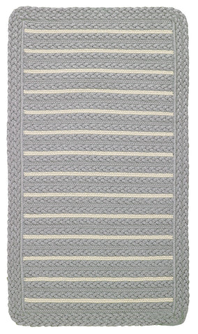 Nautical Grey Braided Area Rug, Reversible