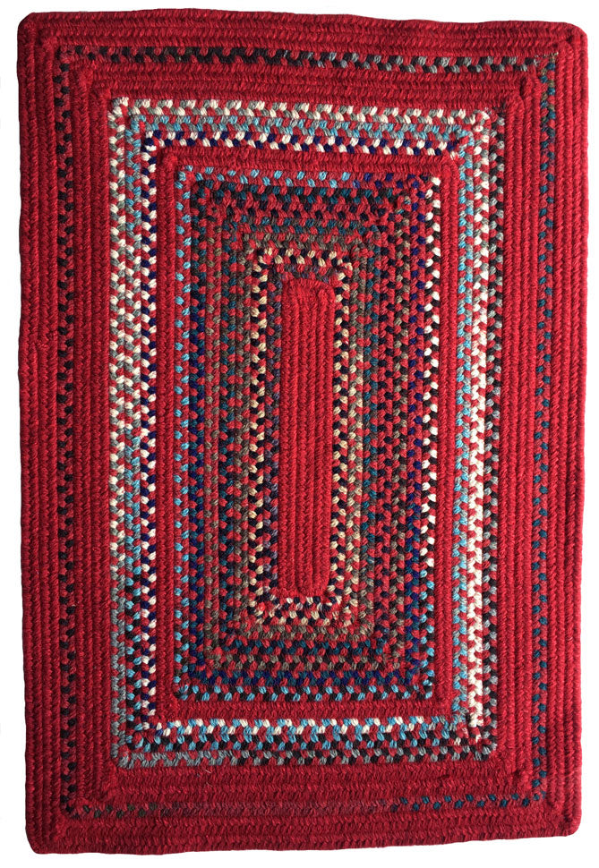 Crimson Braided Area Rug: Reversible