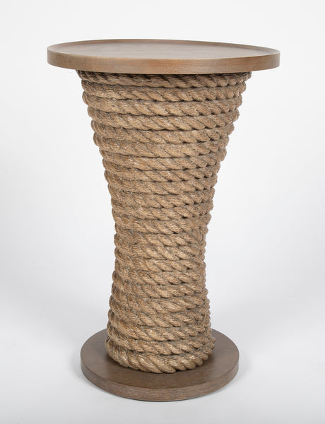 "Thomasville ""Seaboard"" Rope Drinks Table"