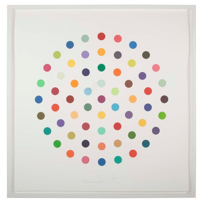 """Cineole"" Round Spot Etching (Pair) by Damien Hirst"