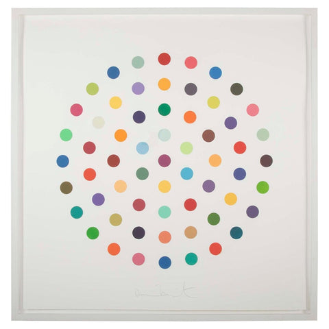 """Cineole"" Round Spot Etchings by Damien Hirst"