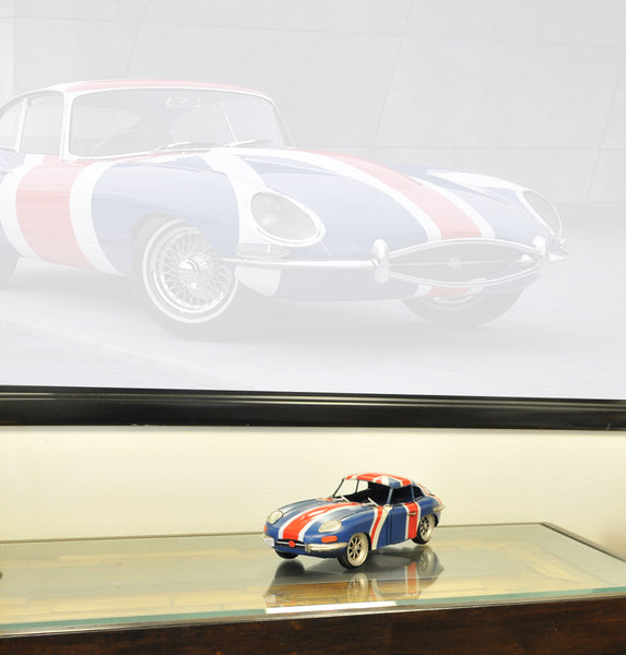1961 E-Type Jaguar Model Car Metal Handmade