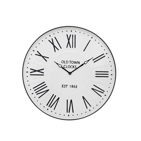 Old Town Metal Wall Clock 31""