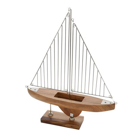 The Regatta Contemporary Wood and Metal Sailboat