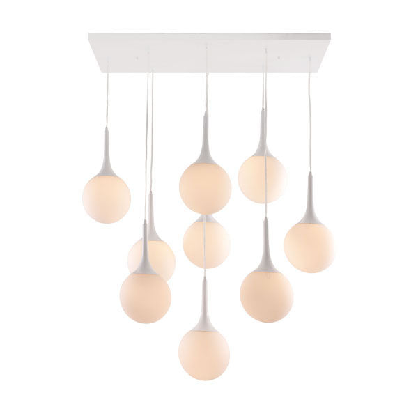 Frosted Glass Pendant Orb Metal Ceiling Lamp