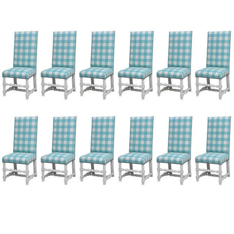 Set of 12 'Diamond & Baratta' Louis XIII Style Chairs