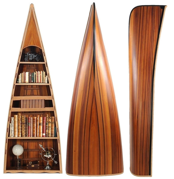 Canoe Bookshelf Rare Purple Heart Cedar