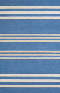 Caribe Blue Striped Area Rugs