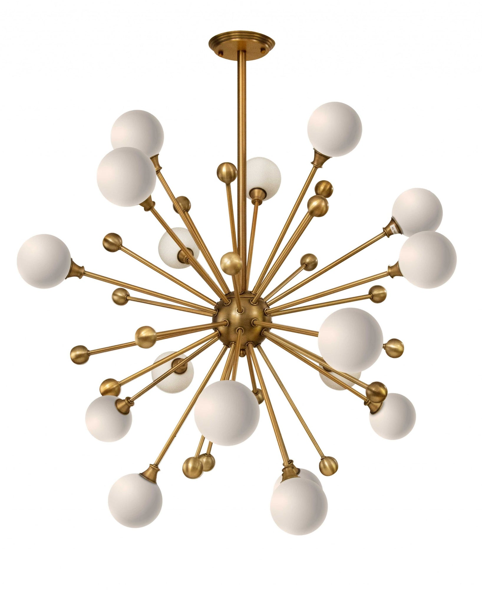 Galaxy Brass Metal Glass Chandelier