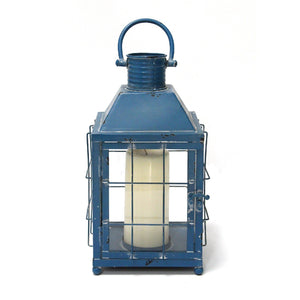 Blue Metal Lighthouse Lantern