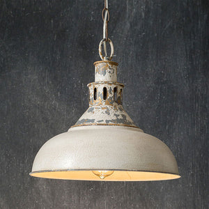 Litchfield White Barn Distressed Pendant Light