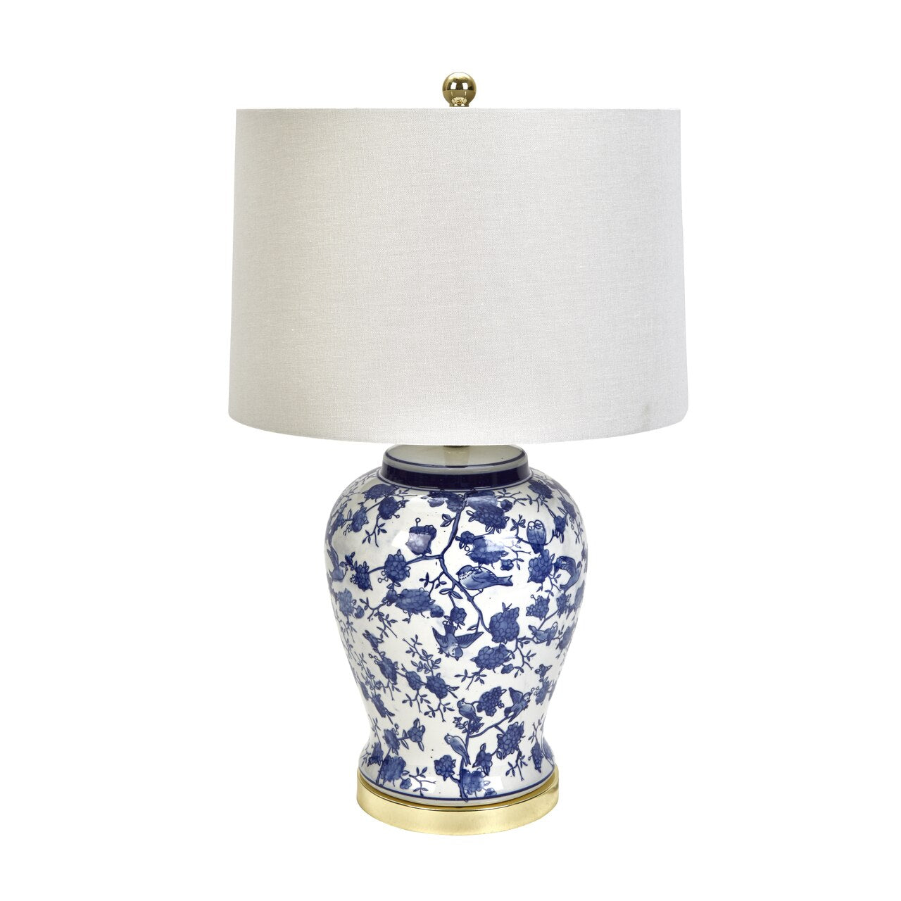 Chinoiserie Ceramic Jar Table Lamp