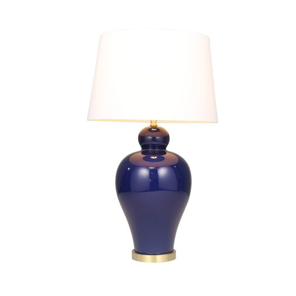 Royal Blue Urn Ceramic Table Lamp, 32 ""