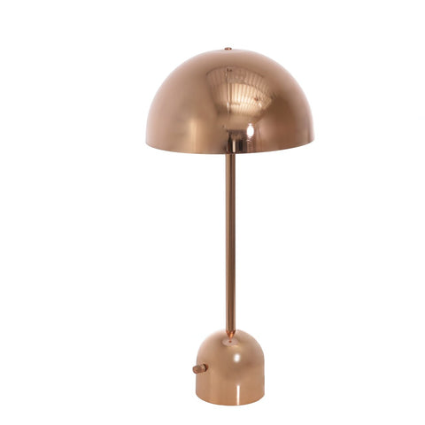 Rollins Rose Gold Tall Dome Task Lamp