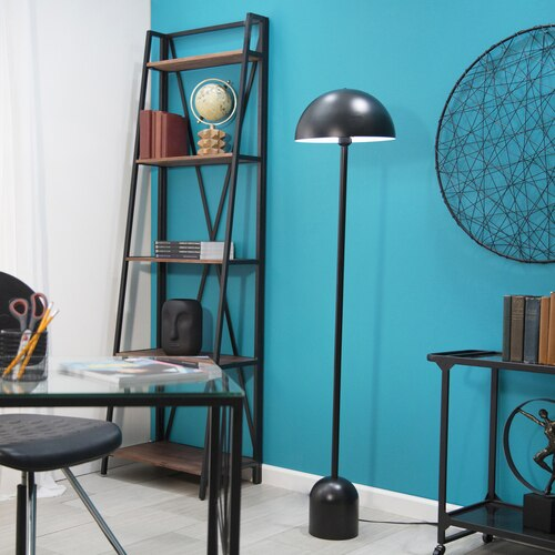 Redford Black Matte Dome Standing Lamp