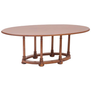 Custom Cherry Oval Dining Table