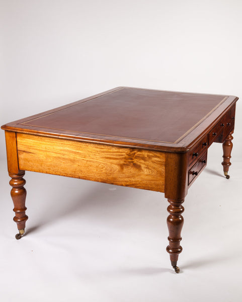 1820s English Regency Partner's Desk