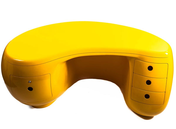 "Maurice Calka for Leleu Deshays, ""Boomerang"" Desk, France, 1970"