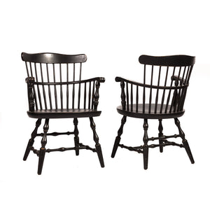 Pair of 19th Century American Captain's Chairs