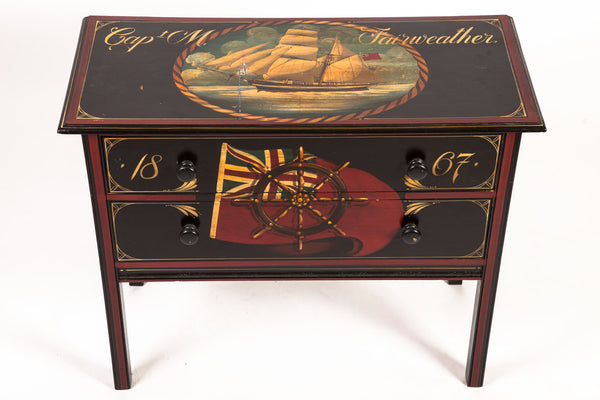 Nautical Painted Chest of Drawers