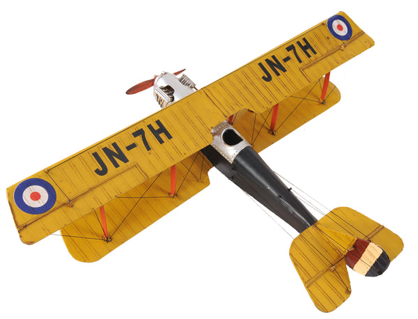 Vintage Yellow Curtiss Jenny Biplane