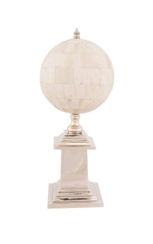 Bone Globe With Nickel Base