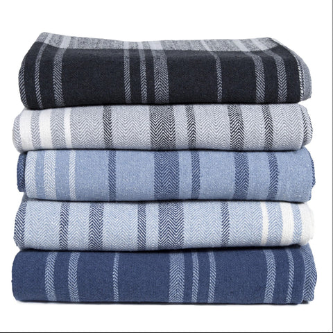 Eco Woven Stripe Throw Blanket