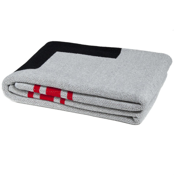 Eco Swiss Cross with Stripes Throw Blanket