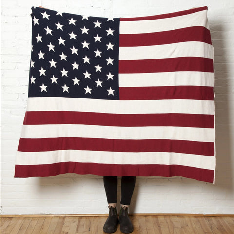 Eco American Flag Throw Blanket