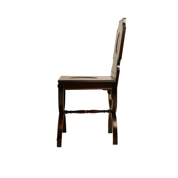 Early 19th-Century Mahogany Hall Chair Painted with Deer Head