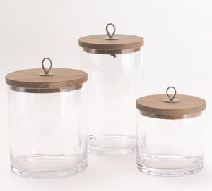 Rustic Glass Canister